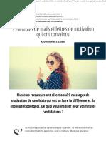 9 Exemples de Mails Et Lettres de Motivation Qui Ont Convaincu