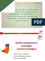 Análisis Prospectivo y Estrategia