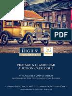 Vintage Classic Car Auction Catalogue