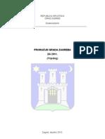 zagreb - prijedlog proracuna 2011
