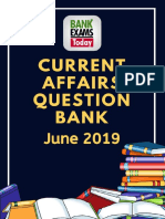 Current Affairs Question Bank June 2019