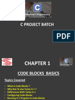 Advance C Project Chapter 1 (Introduction to CodeBlocks)