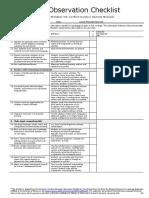 Lesson Planning Observation Checklist Ateneu