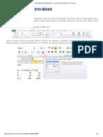 Excel 2010 Básico AULA 04 - Formatação de Células