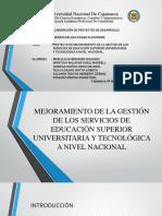Proyecto de mejoramiento de la educación superior