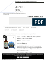 UTI E Drops - Natural Help Against Urinary Tract Infections - Supplements and Herbs