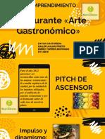 Presentación PITCH Restaurante Arte Gastronomico 2109