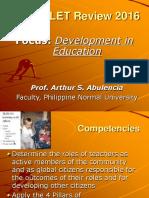 LET 2016-Devt in Education