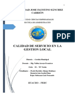CALIDAD DE SERVICIO EN LA GESTION LOCAL