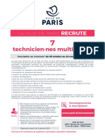 LA VILLE DE PARIS RECRUTE 7 technicien·nes multimédia