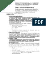 Formato 12 Especificaciones Tecnicas Escalinata La Jalca