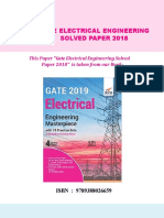 GATE Disha Electrical Engineering Solved Paper 2018 Set 1. CB480140673