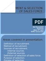 Recruitment & Selection of Sales Force