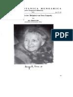 BOTANICA HUNGARICA. Bibliographie Der Tätigkeit Von Vera Csapody