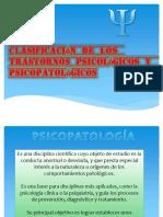 Clasificacion de Los Trastornos Psicológicos y Psicopatologicos