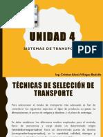 Unidad IV Sistemas de Transporte