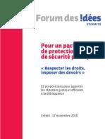 Pacte National de Protection Et de Securite Publique 22 Propositions Pour Apporter Les Repon 66896