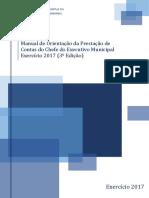 1 Manual de Orientação Das Contas Do Poder Executivo Municipal Exercício 2017