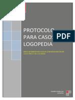 Protocolos para casos de logopedia.