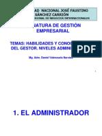 3. Habilidades y conocimientos del gestor. Niveles administrativos..ppt