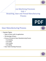 Unit 1 - Gear Manufacturing Process