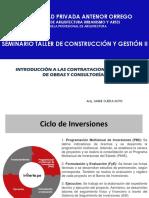 Introducción a Las Contrataciones Publicas de Obras y Consultorías