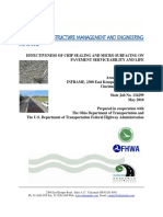EFFECTIVENESS OF CHIP SEALING AND MICRO SURFACING ON PAVEMENT SERVICEABILITY AND LIFE