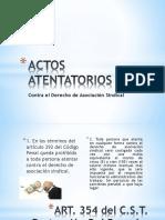 Actos Atentatorios
