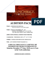 Audition packet