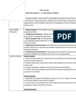 Businesses Analyst job Role