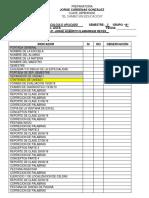 Lista de Cotejo Portafolio