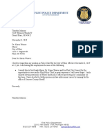 Chief T. Johnson letter
