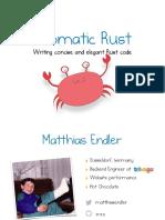 Idiomatic Rust - Matthias Endler - FOSDEM 2018