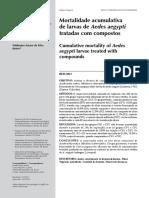 42 Mortalidade Acumulativa de Larvas de Aedes Aegypti Tratadas Com Compostos