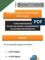 3. Operações Lógicas Em Python