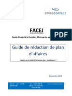 Guide de Rédaction Plan d'Affaire