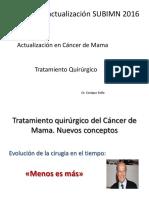 Actualización en Cáncer de Mama Tratamiento Quirúrgico 2