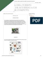 Analogia Del Cuerpo Humano de Acuerdo a Un Equipo de Computo