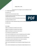 Códigos de Falhas PC-200