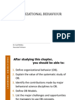UNIT-1 - Introduction to Organisational Behaviour