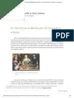 Artigo Descartes - Meditações 1 2 3 6 Comentário Bom