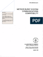 US NTIA-Meteor Burst Comm for Nationwide FEMA Emergency System, Truck Fleets, Etc. 1989