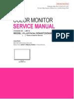 Color Monitor Con Escaler Tsumu58el-Lf-1 Service Manual