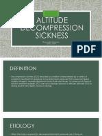 Altitude Decompression Sickness & Trapped Gas