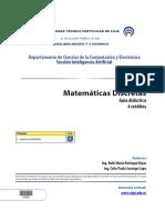 Matemáticas discretas - Guía