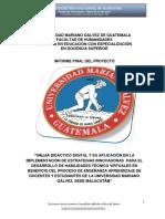 Informe Final Del Proyecto Maestría San Marcos