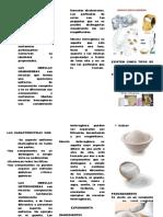 Triptico Mezcla Homogenea y Heterogenea Combinaciones