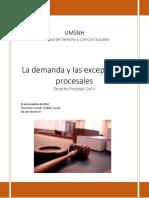 La demanda y las excepciones procesales.pdf