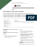 Informe de laboratorio Intercambiadores de Calor