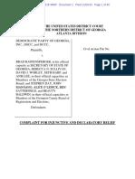 GA Democratic Party v Raffensperger Cv-05028-WMR Complaint